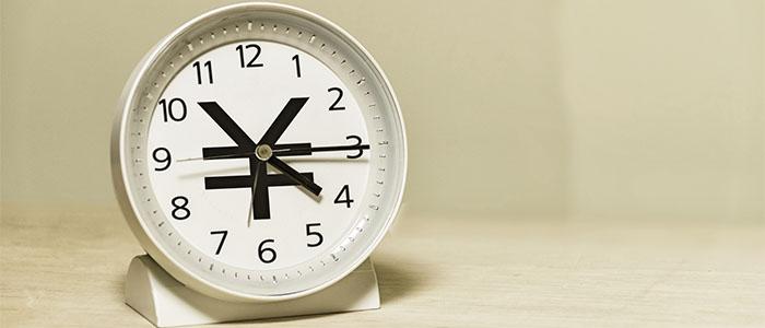 お金と時間の関連性を表現した時計